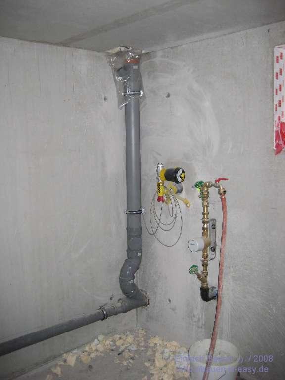 Keller-Heizung und Sanitär-Rohre - Einfach Bauen ;-)