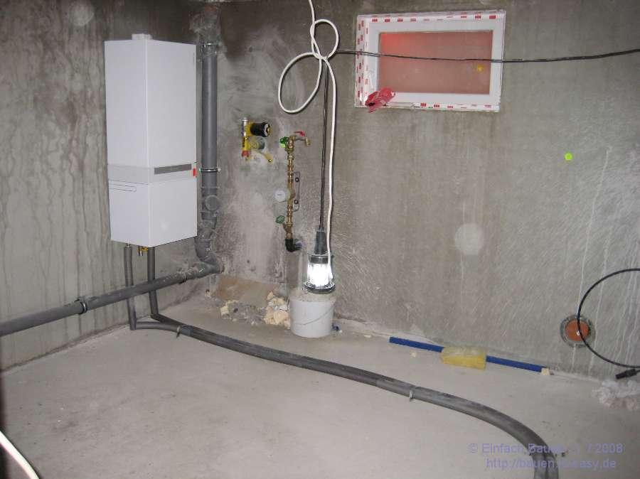 Heizungsarbeiten im Keller - Einfach Bauen ;-)