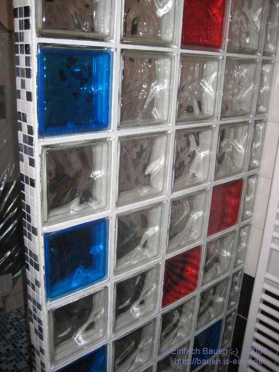 Mosaik Fliesen Dusche Erfahrungen : Glasbausteinwand selbstgemacht – Teil 7 – Einfach Bauen ;-)