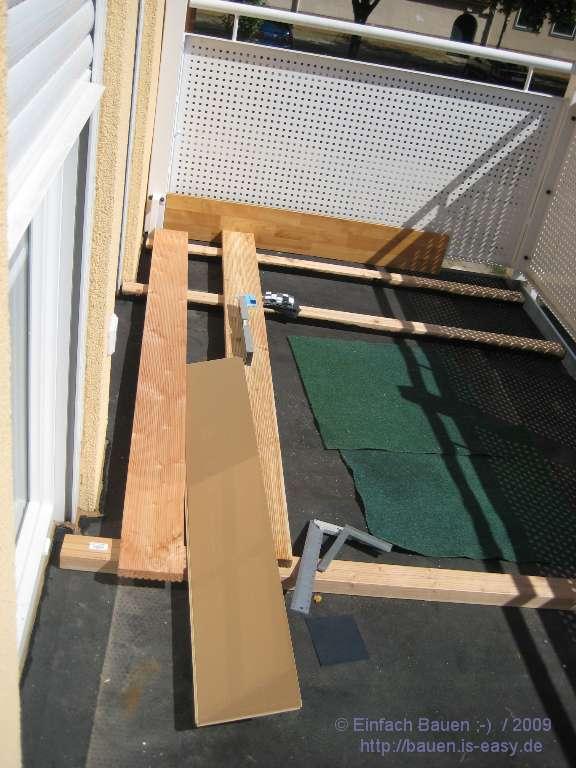 balkon selbst bauen holz terrassen berdachung selber bauen schritt f r. Black Bedroom Furniture Sets. Home Design Ideas