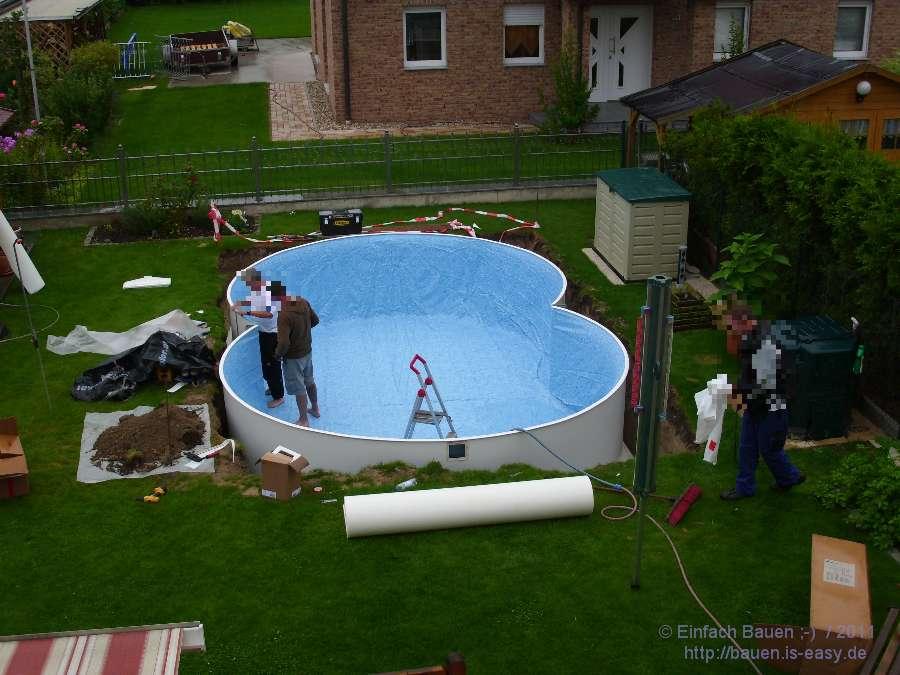 pool eingelassen intex frame pool in erde eingelassen piscines hors sol jacuzzis spas pinterest. Black Bedroom Furniture Sets. Home Design Ideas