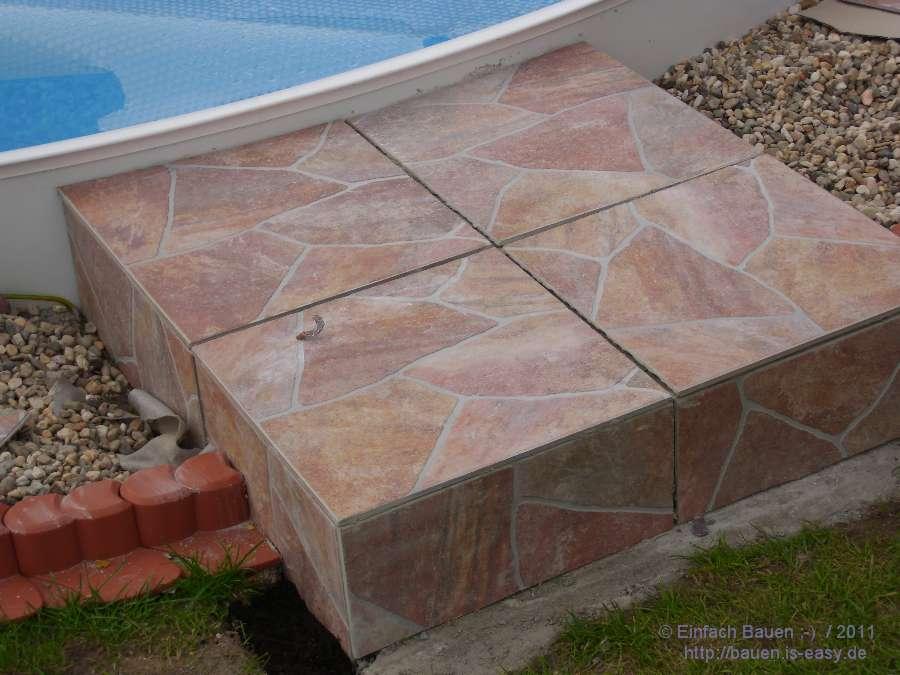 Dusche Bodengleich Selber Bauen : Dusche Bodengleich Selber Bauen : Fliesen am Pool Einfach Bauen ; )
