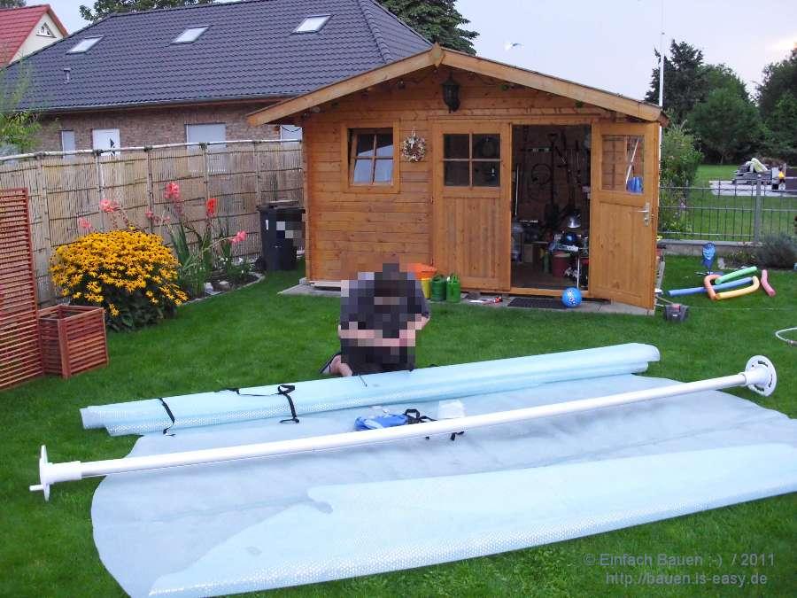 planenaufroller selber bauen schwimmbad und saunen. Black Bedroom Furniture Sets. Home Design Ideas